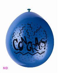 "Balloons CONGRATULATIONS Latex  9"""