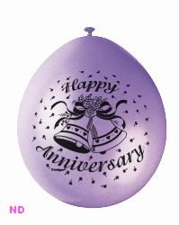 "Balloons 'HAPPY ANNIVERSARY' 9"" Latex (10)"