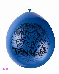 "Balloons 'HAPPY BIRTHDAY TEENAGER' 9"" Latex Balloons (10)"