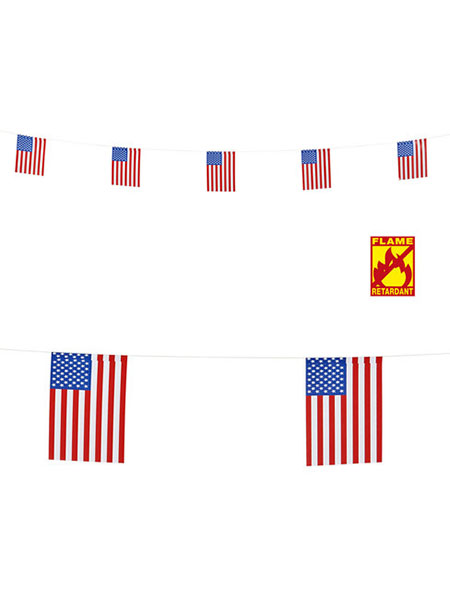 USA Flag Garland 6M