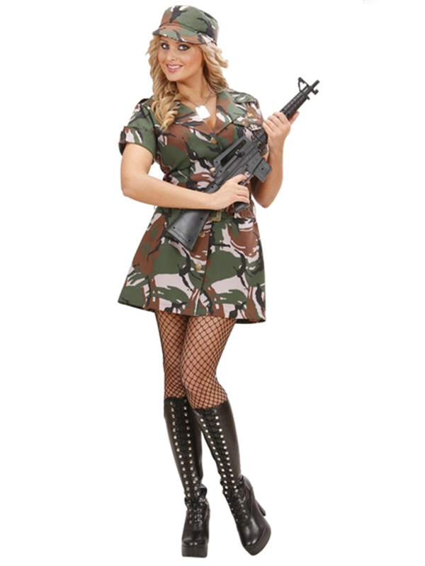 Us Army Soldier Girl (Dress Belt Hat)