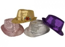 Sequin Gangster Hats Assorted Colours
