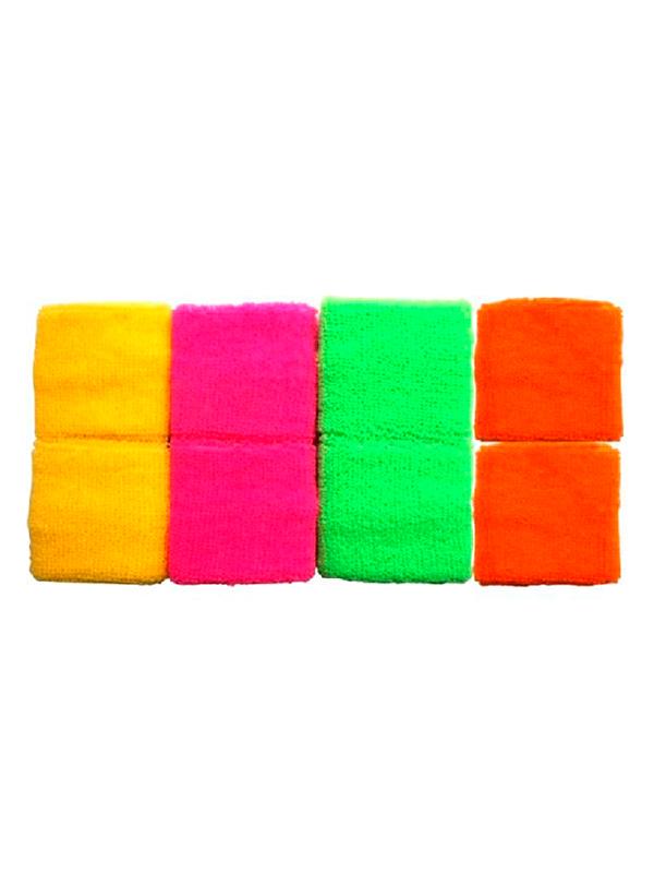 Neon Coloured Wrist Sweatbands