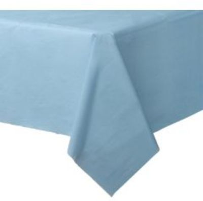 Baby Blue Plastic Tablecloth