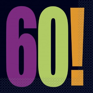 60th Birthday Cheer Napkins