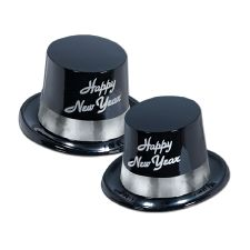Happy New Year Top Hats  - Black and Silver Legacy (10)
