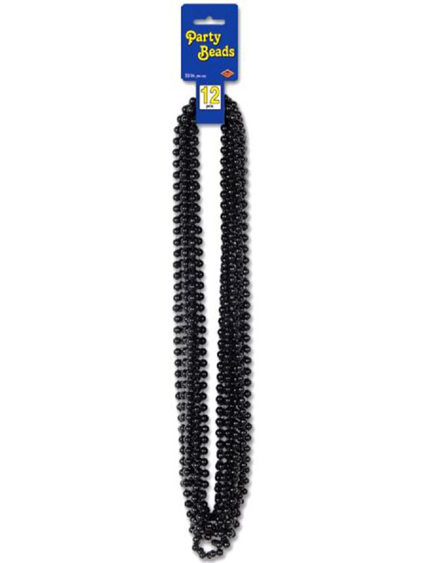 Metallic Black Party Beads