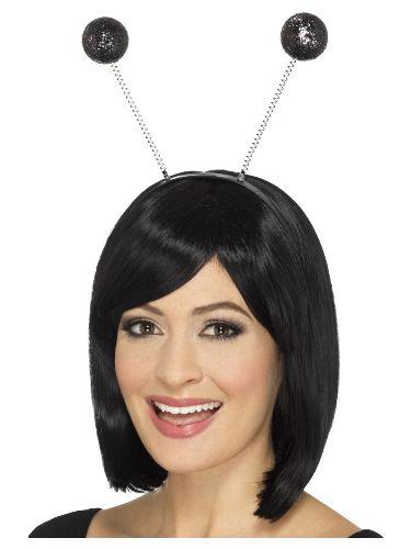 Black Glitter Ball Headbopper