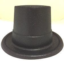 Glitter Top Hat - Black