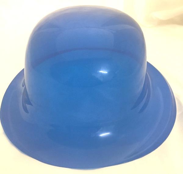 Bowler Plastic Hat Blue