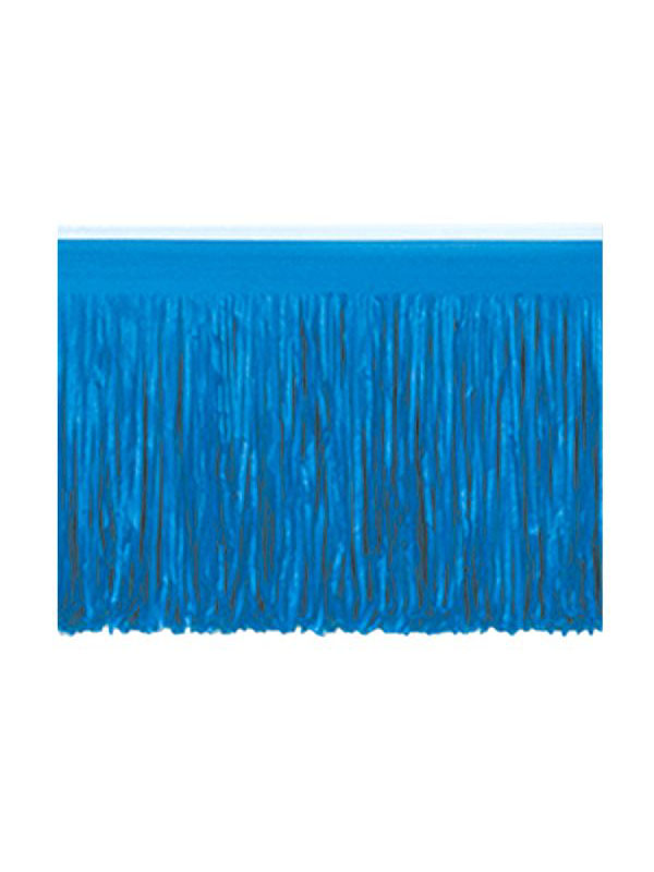 Blue Tissue Fringed Drape
