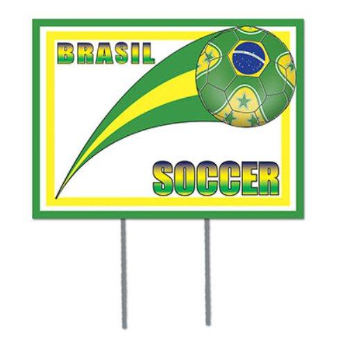 Brazil Soccer Garden Sign