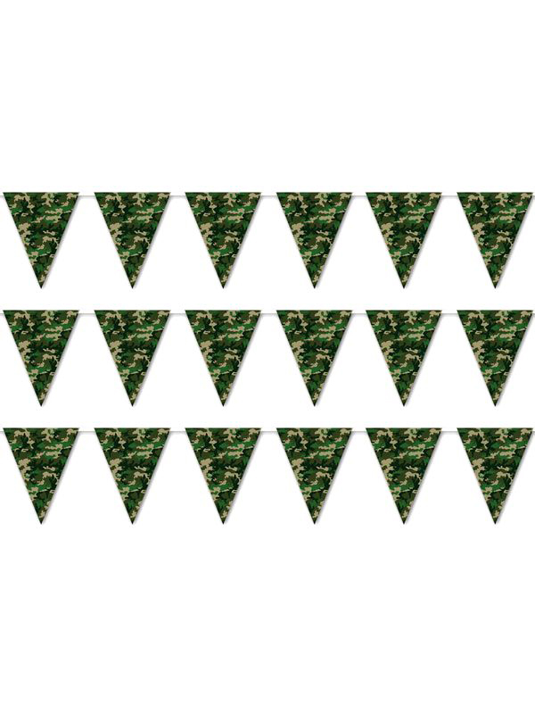 Camouflage Plastic Bunting