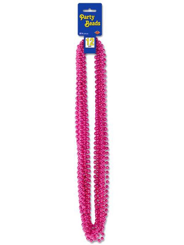 Metallic Cerise Pink Party Beads