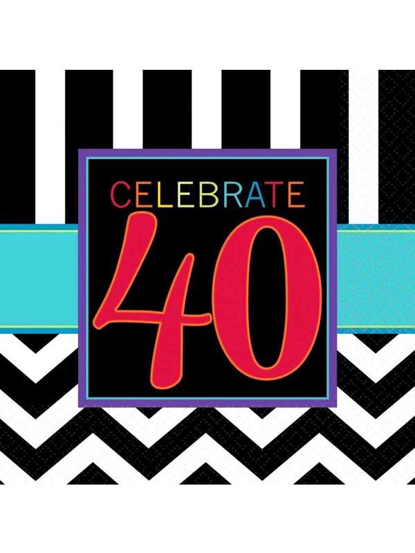 Happy Birthday Chevron Design 40 Napkin