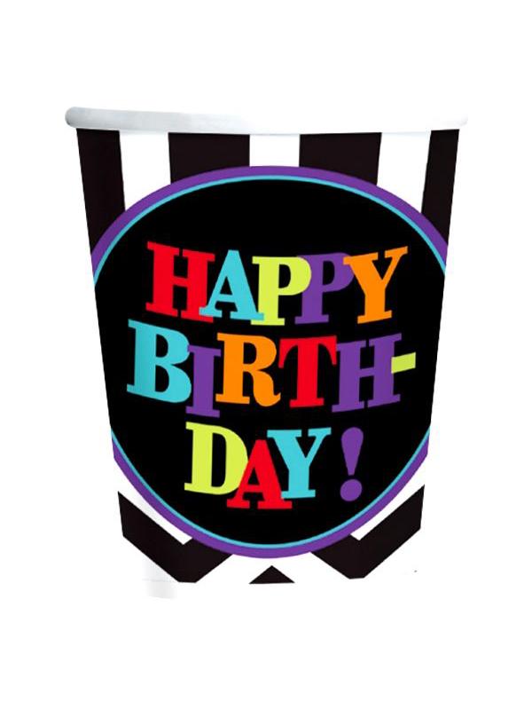 Happy Birthday Chevron Design Cup