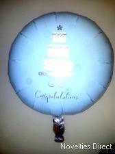 Foil Balloon 'CONGRATULATIONS' Cake
