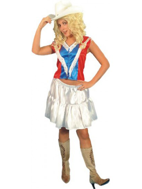 Cowgirl Sexy Costume Includes Fringed Top And Skirt Size 10-14 (12345)