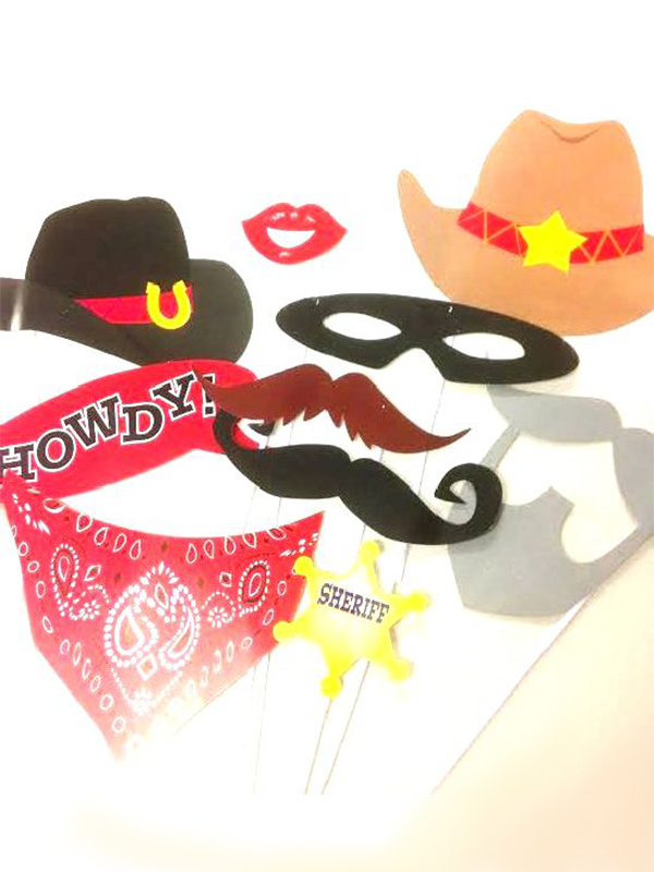 Cowboy Western Photo Booth Kit