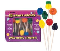 Picks Tropical Fruit Picks Assorted 100 Picks