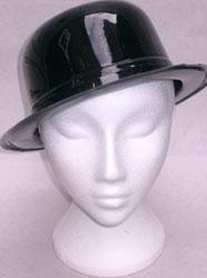 Bowler Plastic Hat Black