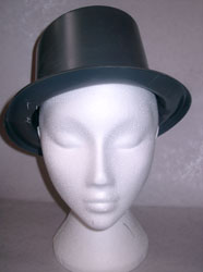 Top Hat Plastic Plain Black