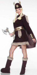 Viking Lady Costume Dress (12345)