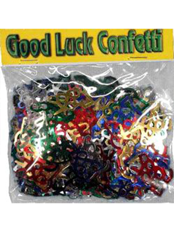 Confetti Assorted Colours GOOD LUCK 14g bag
