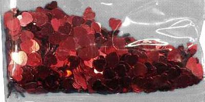 Confetti RED HEARTS bag of 84g