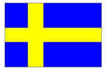 Sweden/Swedish Flag 5ft x 3ft (100% Polyester) With Eyelets