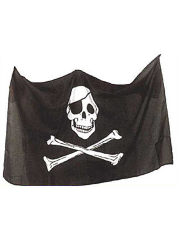 Pirate Flag Skull And Crossbones 5ft x 3ft  (Polyester) With Eyelets