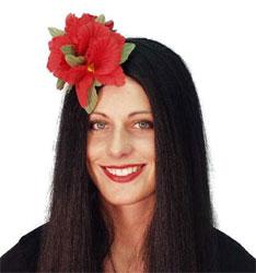 Hawaiian Red Flower Hair Clip