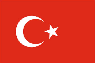 Turkey Flag 5ft x 3ft With Eyelets