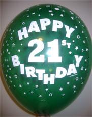 Balloons Happy 21st Birthday - 25