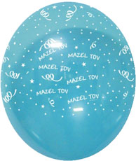 "Balloons ""MAZEL TOV"" Assorted Colours 12"" Bag of 25"