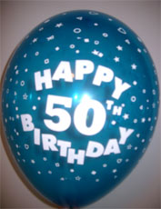Balloons HAPPY 50TH BIRTHDAY