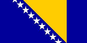 Bosnia & Herzegovina Flag 5ft x 3ft  With Eyelets For Hanging