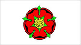 Lancashire Flag 5ft x 3ft With Eyelets For Hanging