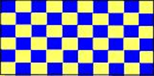 Check Blue And Yellow Flag 5ft x 3ft With Eyelets For Hanging