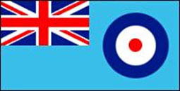 RAF Ensign Flag 5ft x 3ft With Eyelets For Hanging