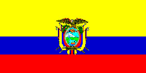 Ecuador  Flag 5ft x 3ft  With Eyelets For Hanging