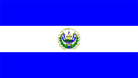 El Salvador Flag 5ft x 3ft With Eyelets For Hanging