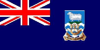 Falkland Islands Flag 5ft x 3ftWith Eyelets For Hanging