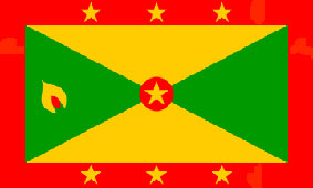 Grenada Flag 5ft x 3ft With Eyelets For Hanging