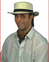 Straw Boater With Black Band (1)