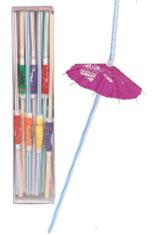 Straws Luau Umbrella Straws (100 pcs per Box)