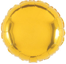 Foil Balloon Round Solid Metallic Gold