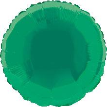 Foil Balloon Round Solid Metallic Green