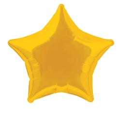 Foil Balloon Star Solid Metallic Gold