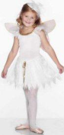 Child's Woodland Fairy Costume White Dress, MEDIUM - 6-8